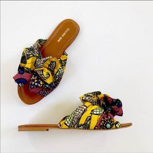 Gianni Bini Shoes - Gianni Bini Dakeena Flower Pom Slide Sandals NWT